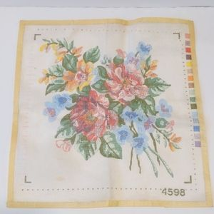 2/$20 bouquet of flowers needlepoint canvas